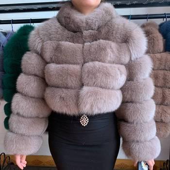 2020 New Genuine Real Fur Coats Winter Women Slim Short Real Natural Fur Jacket Female Quality 100% Real Fox Fur Overcoats new 2019 real fox fur handbag 100