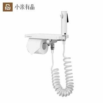 Youpin HIGODL Multifunctional Paper Towel Holder Tissue Rack Stainless Steel Hook With Mobile Phone Toilet Spray Gun