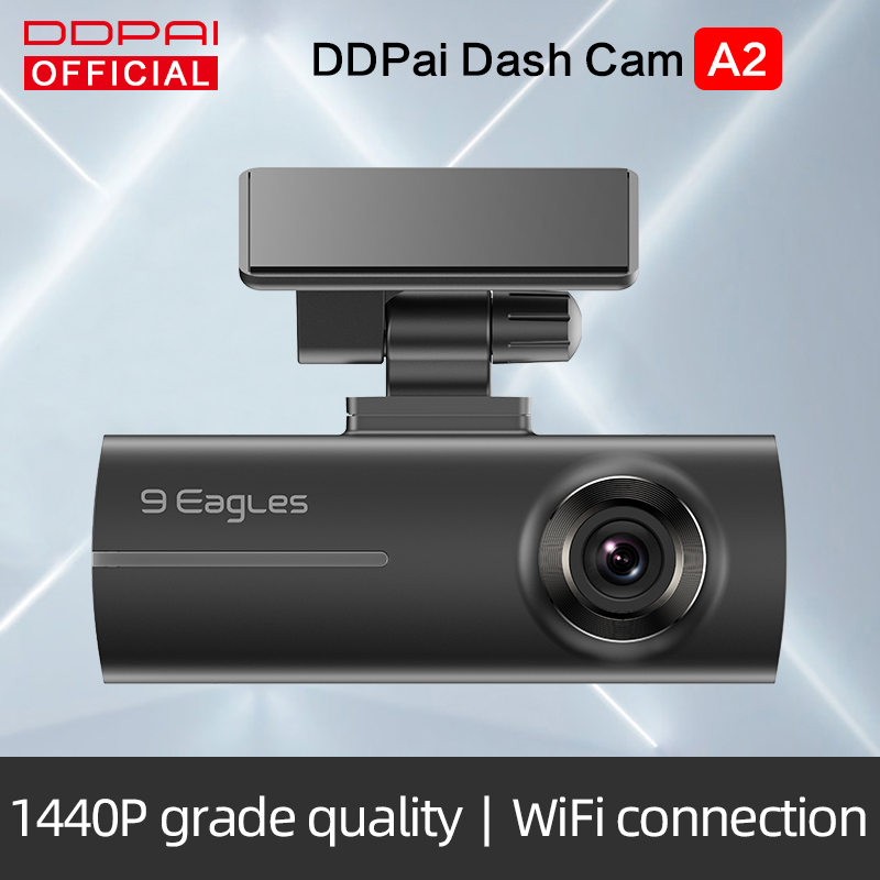 DDPai Dash Cam Mola A2 1440P Full HD Hidden Vehicle Drive Auto Video DVR Android Wifi