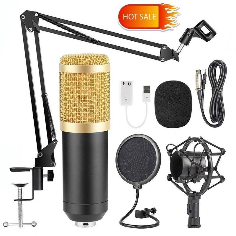 Microfone bm 800 micrófono de estudio microfone bm800 micrófono de grabación de sonido condensador para ordenador ¡Oferta! micrófono de Karaoke para niños, juguete de aprendizaje de música fresco ajustable con efecto de luz, regalo de cumpleaños para niños, azul/rosa