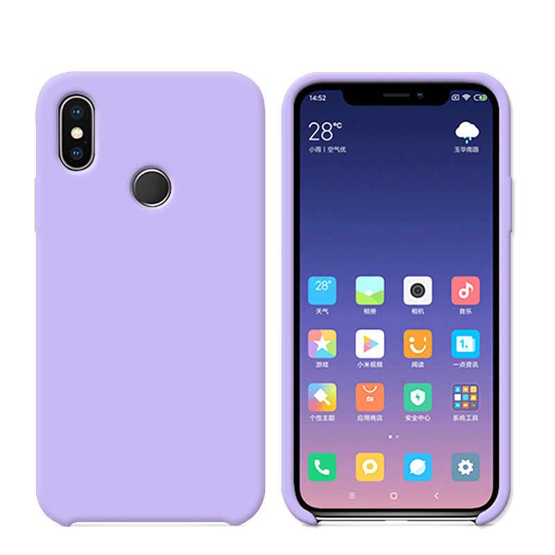 Funda Original de silicona para teléfono Xiaomi mi 8 SE mi 6X mi A2 mi x 2S funda oficial Cov Red mi Note 7 6 K20 Pro con caja de venta al por menor