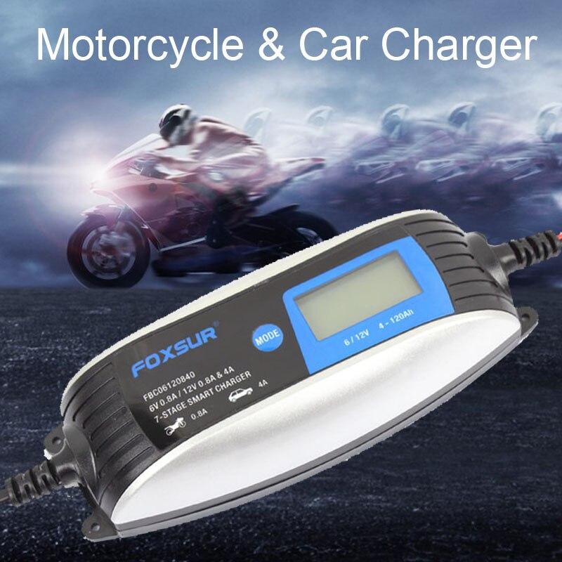 Купить 6v 12v скутер мотоцикл автомобиль смарт зарядное устройство
