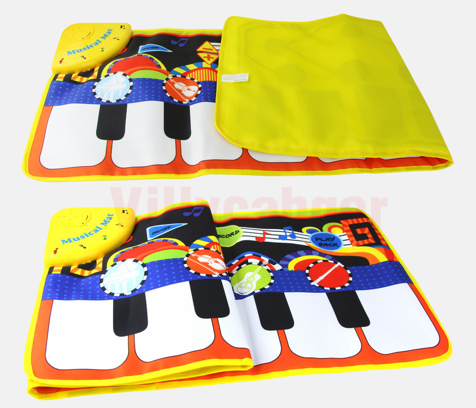H9feddd5fb65946cd875d1925d82df72fH 110x36cm Musical Piano Mat Baby Play Mat Toy Musical Instrument Mat Game Carpet Music Toys Educational Toys for Kids Xmas Gift