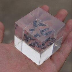 99.9% Anadium uszczelniony w przezroczystej żywicy kształt gałęzi twardy metal V 50mm kostka rzadkie metale ogniotrwałe do zbierania elementów w Części do narzędzi od Narzędzia na