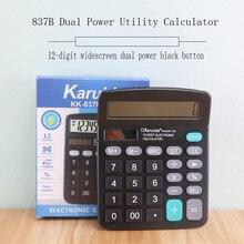 Tragbare Büro Finanzen Rechner Berechnen Kommerziellen Werkzeug Solar/Batterie Powered 12 Digit Elektronische Calculatory Rechner
