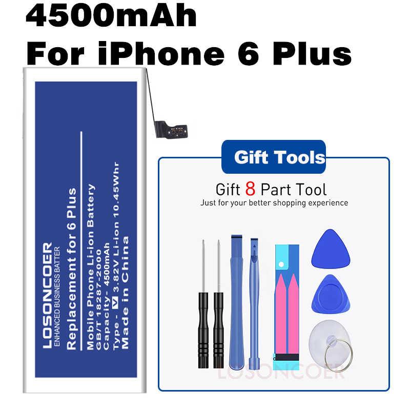 4500 мАч для iPhone 6 Plus батарея для мобильного телефона батарея большой емкости полимерные батареи Бесплатная слеза набор инструментов держатель стентов