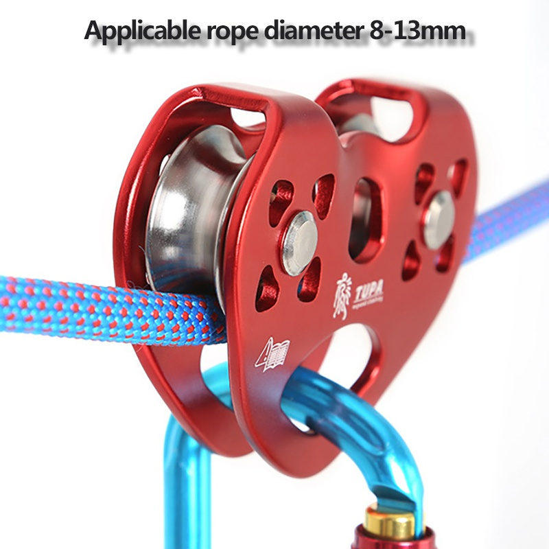 Outdoor High-altitude Transportation Ropeway Pulley Ball Bearing Rock Climbing Double Slide Zipline