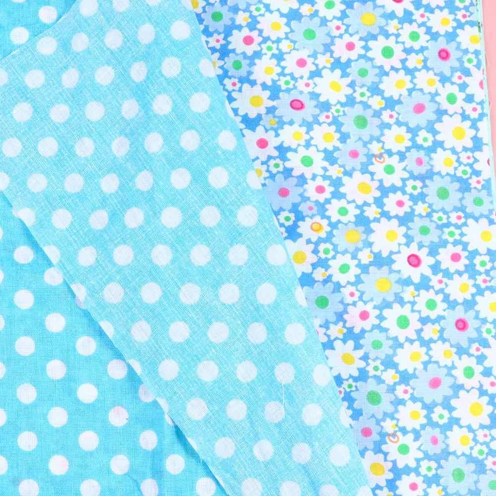 9 قطعة لتقوم بها بنفسك اليدوية القطن قماش طباعة قماش مطبوع نمط الأزهار القطن الخالص قماش مطبوع متعددة الأغراض القطن القماش مختلط اللون 50x50cm