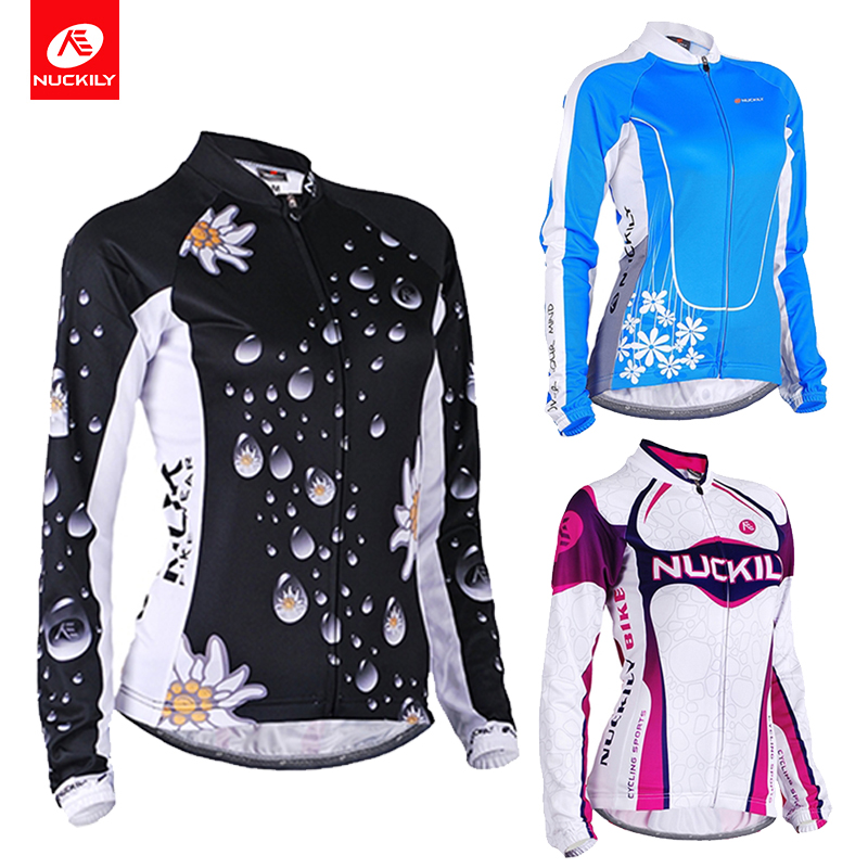 NUCKILY Cycling Jersey Women Short Sleeve Set Bike Shirt Jacket Top Padded Shorts Quick-Dry Mountain Riding Clothing Suits