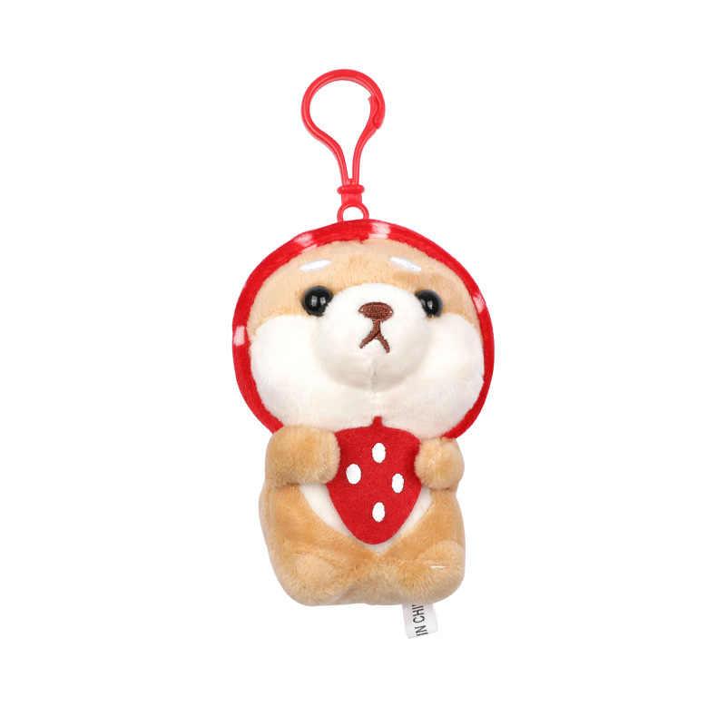 Adorável Cão Shiba Boneca Chaveiro De Pelúcia Chaveiro Animais Saco Chave Do Carro Anel Pingente Encantos Acessórios Do Presente Da Menina Das Mulheres Por Atacado