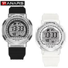 Digital-Watch Couple PANARS Women Electronic-Clock Waterproof Luminous LED Fashion Sport