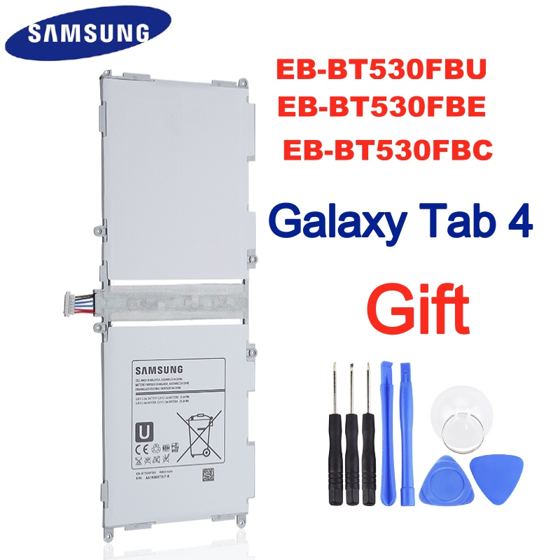 SAMSUNG Bateria Original EB-BT530FBU EB-BT530FBC 4 EB-BT530FBE Para Samsung GALAXY Tab Tab 4 SM-T530 T531 T533 T535 T537 6800mAh