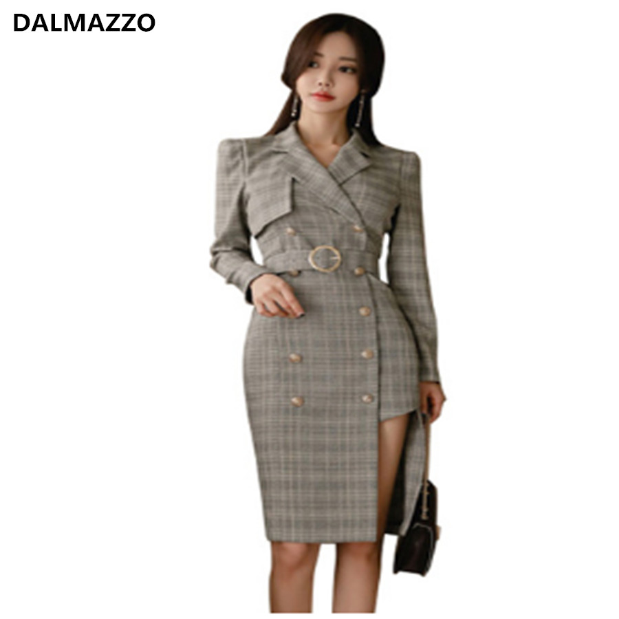 High End Designer 2019 Newest Autumn British Style Fashion Women Belt Plaid Long Coat Female Maxi Coat Long Trench Outwear Xl Trench Aliexpress