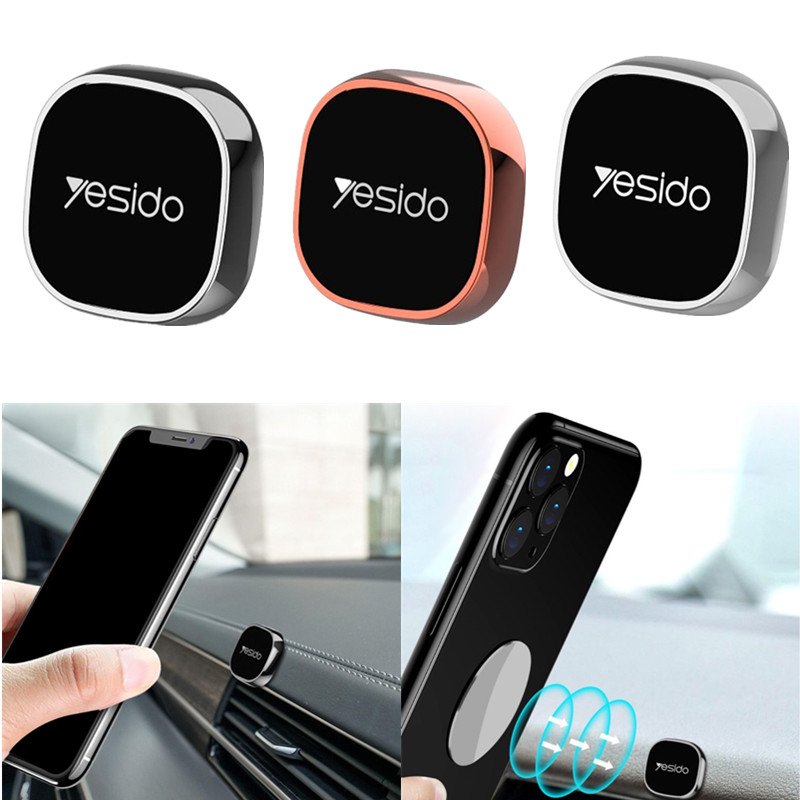 Mini Magnetic Car Mount Bracket Portable Mobile Phone Holder For IPhone Metal Round Magnet Stand GPS Navigation Devices