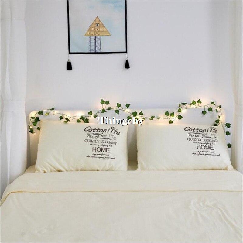 Luzes de fadas da guirlanda da folha de ivy 2 m