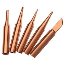 1 pces cor de cobre puro universal 936 900m-t-k 900m-t-b 900m-t-i estação de solda ponta de ferro de solda ferramentas de solda do punho da picada