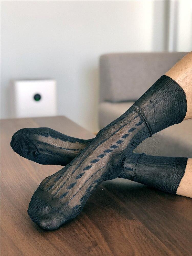 Tube Socks Dress Socks Gifts For Men Sheer Socks Exotic Formal Wear Sheer Socks Suit Men Sexy Gay Transparent Business TNT Socks