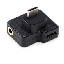 CYNOVA DJI Osmo działania Adapter mikrofonu 3.5mm/USB C Audio zewnętrzne 3.5mm mikrofon do montażu na TRS wtyczka DJI osmo figurka akcesoria