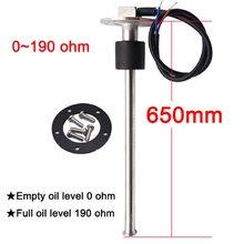 Sensor de nivel de combustible y agua para coche y motocicleta, tamaño personalizado de 0 a 1500 ohm/790 ~ 33 ohm, 1800mm, 950mm, 800mm, 190mm, 240mm
