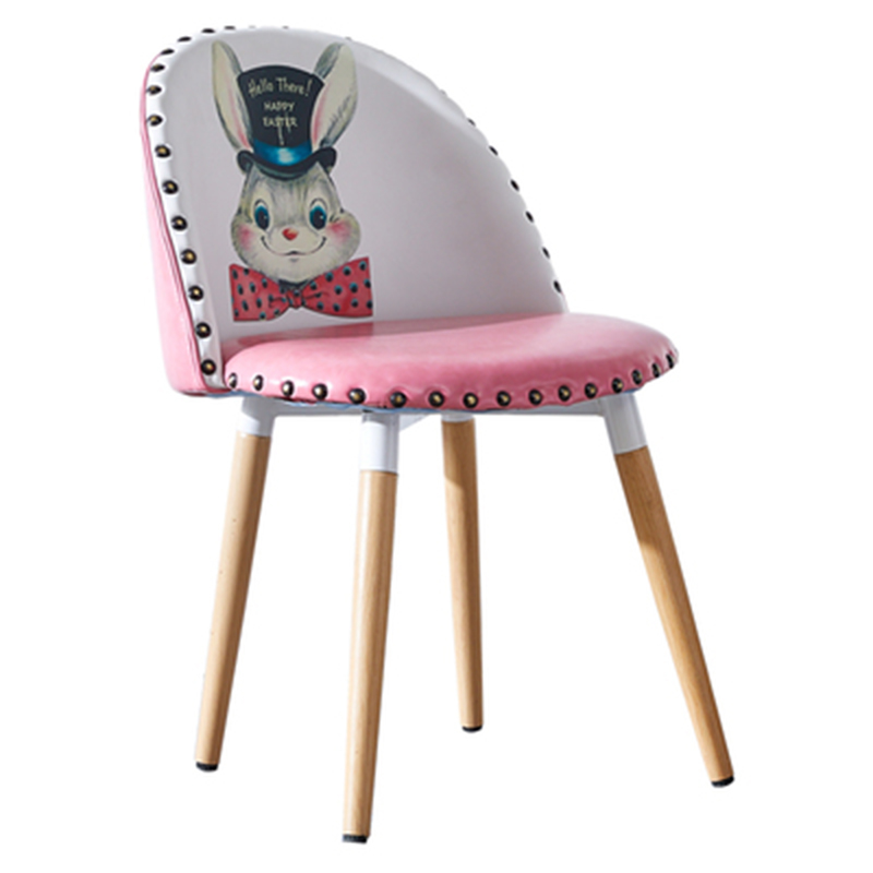Cartoon Disney Style Upholstered Chair Contemporary Children Chair Furniture Leather Chair Dining Chairs for Dining Rooms