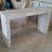Modern white console table furniture living room display corner table