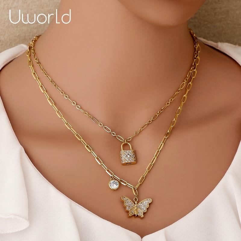 Ladies Necklace Flying Pig Chain Choker Jewelry Pendant Crystal Rhinestone