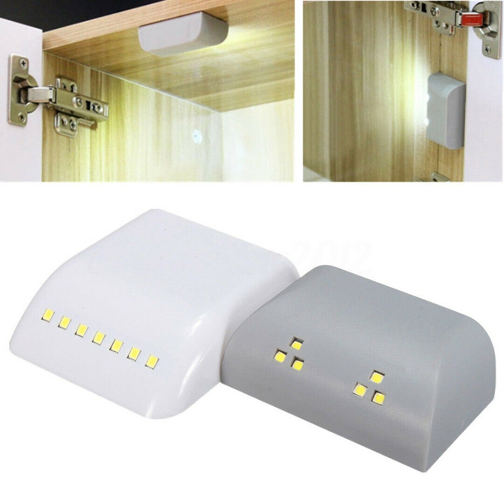 PIR Infrared Motion Sensor Light Kitchen Inner Hinge Drawer Cupboard Wardrobe Closet Under Cabinet Light Battery LED Night Lamp