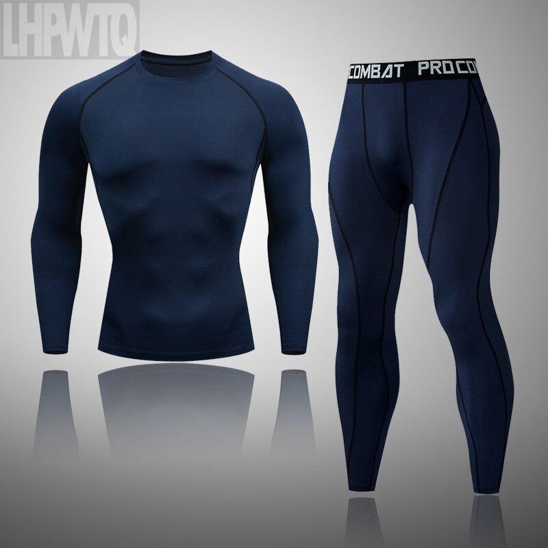 Бренд термобелье подштанники набор Мужская велосипедная рубашка компрессионные рубашки с длинным рукавом Зимние термобелье комплект одежды|Кальсоны|   | АлиЭкспресс