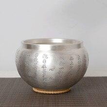 Стерлинговое серебро 999 чай морской стерилизации ручной резной большой бытовой чай реквизит аксессуары для мытья чая
