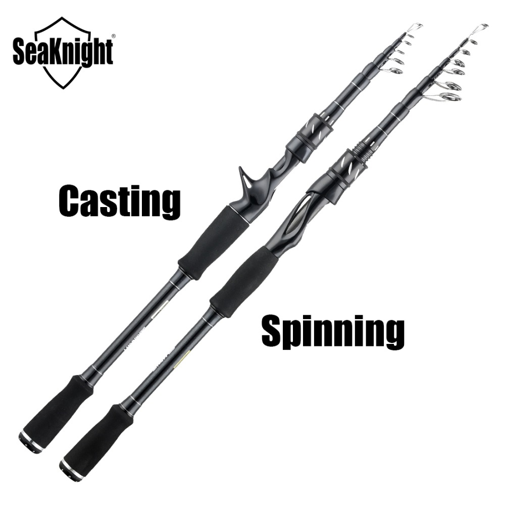 2019 New SeaKnight   Sange II  Fishing Rod 2.1M 2.4M M Power 7-25g Carbon Material Casting Spinning Rod with EVA Grip