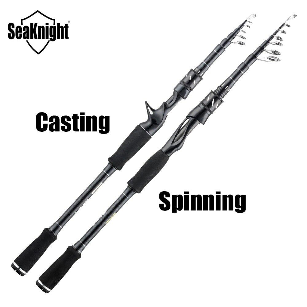Image 2 - SeaKnight  Sange II Fishing Rod  M MH 2.1M 2.4M Carbon  Telescopic Casting Spinning Rod  7 25g 8 18LB Fishing RodsFishing Rods   -