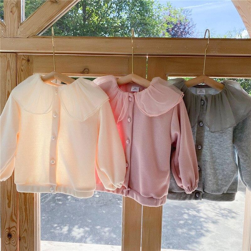 2021 Autumn New Arrival Girls Long Sleeve Coat Kids Korean Design Cardigans  Girl Coat 5
