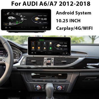 10.25 Inch Android Car Multimedia DVD Player For-AUDI A6 A7 2012-2018 Radio Player GPS Navigation carplay image