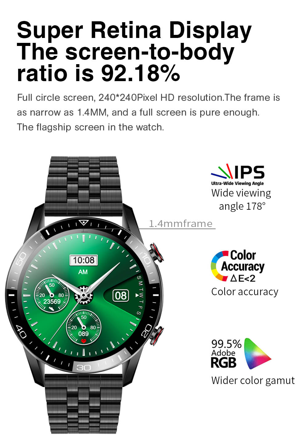 H9fef6199f67a4e1db561f1f2462fb293y TK2-8 Smart Watch For Men Bluetooth Call IP68 Waterproof Blood Pressure Heart Rate Monitor New SmartWatch Sports Fitness Tracker