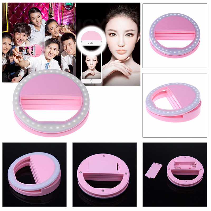 Universal Selfie LED Ring Flash Light Portable Mobile Phone 36 LEDS Selfie Lamp Luminous Ring Clip for IPhone for Samsung Huawei