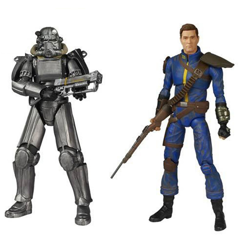 Fallout 4 Game Figma Model PVC Fall out Vault Boy Model Lone Wanderer & Power Armor Figure Toys image