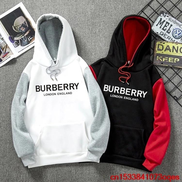 High Quality New Original Brand BURBERRY Hoodies Men Fashion Mans  Sweatshirts 100% Cotton Men's Hoodie 1BU8 Hoodies & Sweatshirts  -  AliExpress