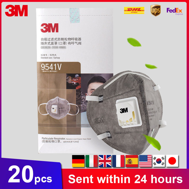 3M 9541V Mascarillas Safety Protective Disposable Masks Dust Face Masks Sanitary Mouth Mask With Cool Flow Valve In Stock
