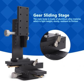 40x90mm Manual Trimming Platform X Y Z 3 Alexs Detachable Adjustable Gear Guide High Accuracy Stage