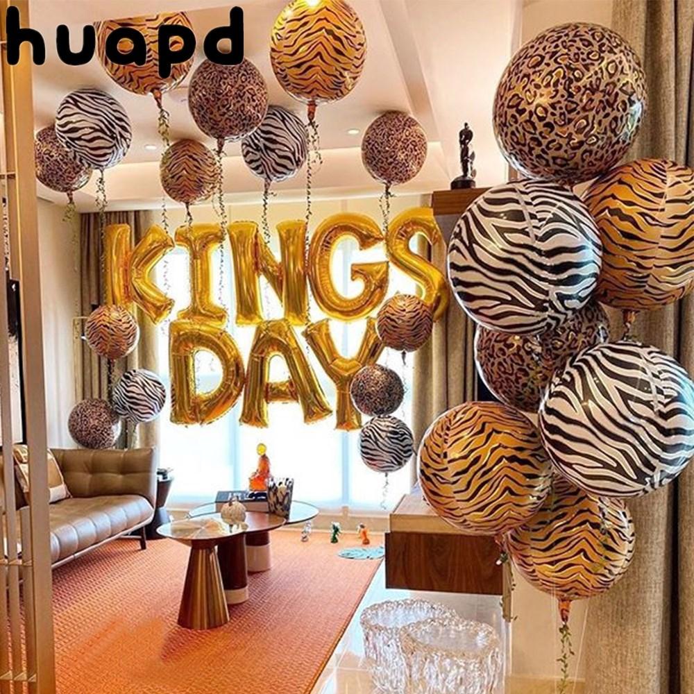 Воздушный шар из алюминиевой фольги с леопардовым принтом, 22 дюйма, 4D
