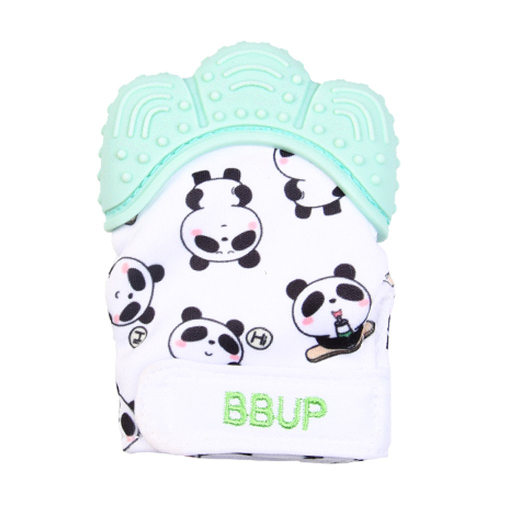 Silicone Teether 1pc Animal Baby Teething Glove Panda Wrapper Sound Teething Chewable Beads Newborn Toddler Food Grade