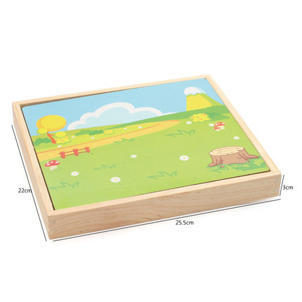 Children Magnetic Joypin Wooden Puzzle Building Blocks Educational Toy-in-Drawing Board
