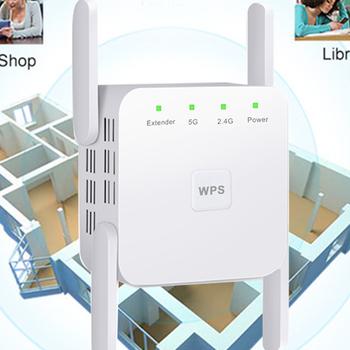 Wzmacniacz sygnału Wi-fi dwuzakresowy 2 4 5G wzmacniacz Wifi antena o dalekim zasięgu Wifi Repiter 1200 mb s Router bezprzewodowy dostęp do internetu przedłużacz zasięgu Repeater tanie i dobre opinie raugee