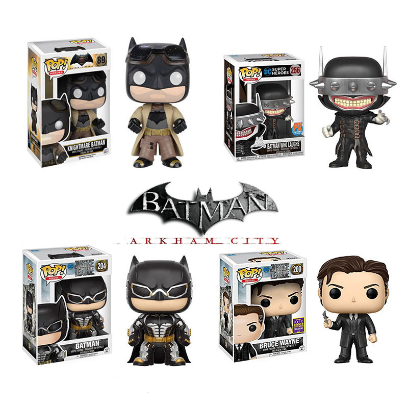 Funko Pop Justice League The Batman Limited Edition Bruce Wayne Vinyl Action Figures Collection Model Toys For Children Gift