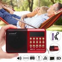 BEESCLOVER głośnik radiowym FM ręczny cyfrowy FM USB TF odtwarzacz MP3 głośnik K11 FM akumulator Mini Radio przenośne r57