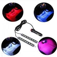 Автомобильная 9 LED 2 в 1 напольная декоративная лампа для Hyundai ix35 iX45 iX25 i20 i30 Sonata,Verna,Solaris,Elantra
