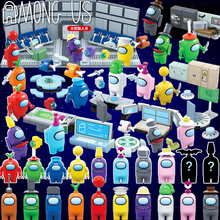 2021 NEW Among Action Figure Building Blocks Set Crewmate Impostor Alien Us Model Kit Mini Bricks Educational Toys For Boys Gift