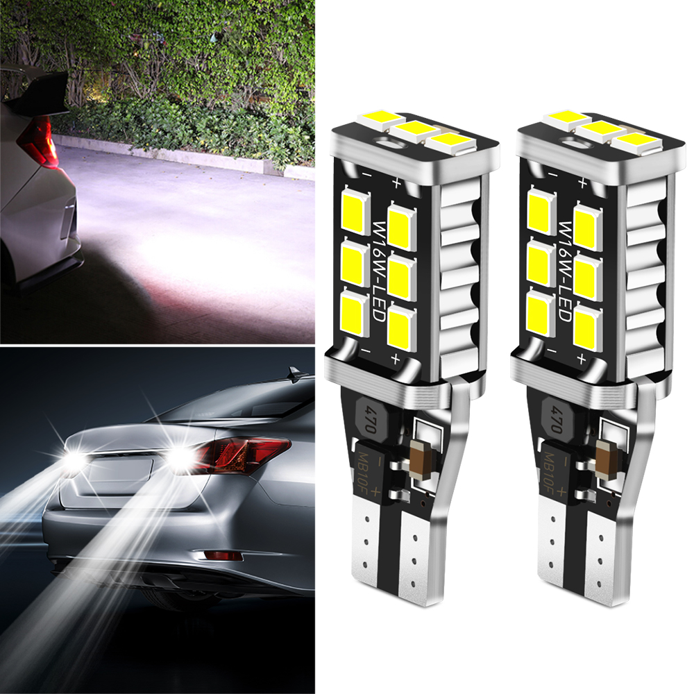 2x W16W T15 светодиодная автомобильная лампа заднего хода, ксенон, белый для BMW F20 F21 F31 G31 F11 E61 E60 X1 F48 X2 F39 X3 G01 F25 E83