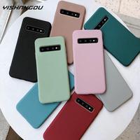 Custodia morbida in silicone Color caramella per Samsung Note 10 9 8 S10 S9 S8 Plus S10e A30 A50 A70 A40 A20 A21S A31 A41 S20 FE S21 Plus Cover