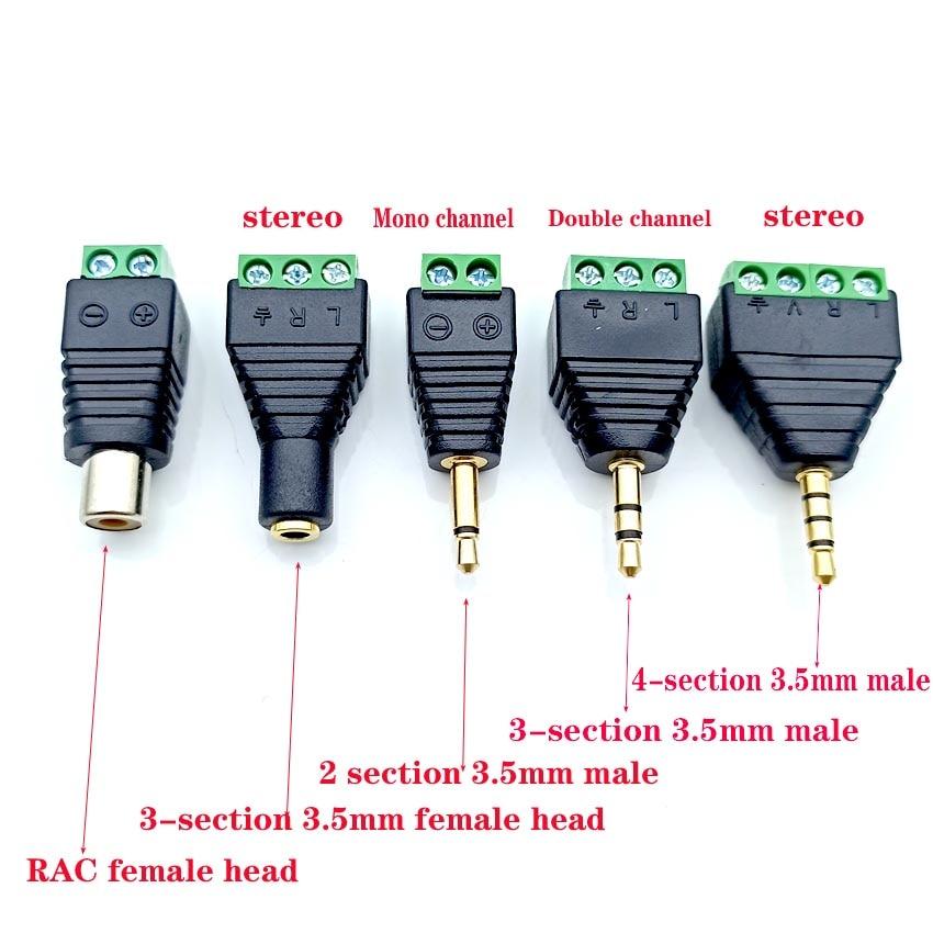 Аудиоразъем для наушников, разъем 3,5 мм, стерео адаптер 3,5 мм, стандартный штекер для резьбы